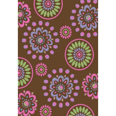 Concord Global - Alisa FLOWER KALEIDOSCOPE Brown