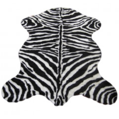 Walk On Me - Faux Zebra Skin - Narrow Stipe Black & White