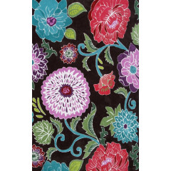 The Rug Market Poppy Scroll 72480D Brown Multi