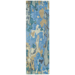 Kaleen Rugs Brushstrokes Collection BRS05-17 Blue