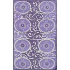 The Rug Market Suzani Tile 44301D Lav Gray Purple