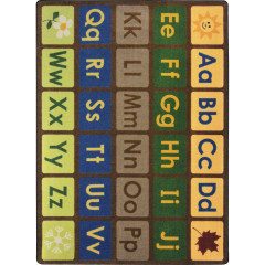 Joy Carpet - Any Day Alphabet Kid Essentials - Early Childhood Earthtone