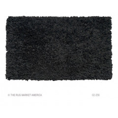 The Rug Market Shaggy 02256A Black