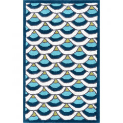The Rug Market Chi Lin 12391B Blue White Teal