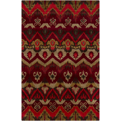 Chandra Rupec RUP-39618 Red/Gold/Black/Taupe