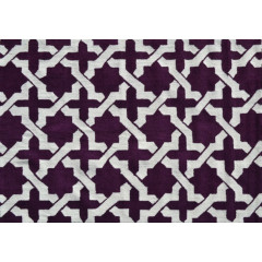 The Rug Market Etchy Pa0110D Aubergine White