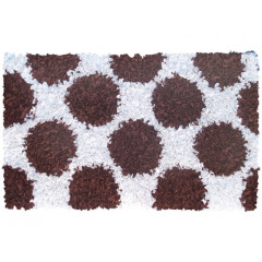 The Rug Market Polkamania 02267B Brown White