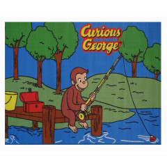 Fun Rugs - Curious George Cg-01 Multi-Color