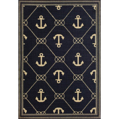 Central Oriental - Tributary Anchor Navy-Ivory