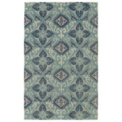 Kaleen Rugs Weathered Collection WTR03-91 Teal