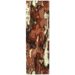 Kaleen Rugs Brushstrokes Collection BRS05-30 Rust