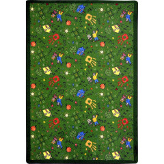 Joy Carpet - Scribbles Playful Patterns - Children'S Area Rugs Green