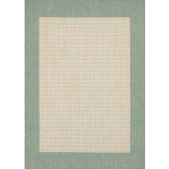 Couristan Rugs RECIFE CHECKERED FIELD 10055005 NATURAL/GREEN