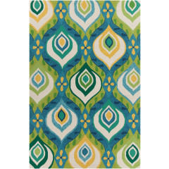 Chandra Terra TER-35108 Green/Blue/Yellow/Cream