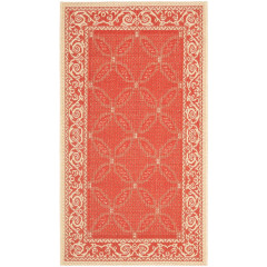 Safavieh - Courtyard CY1502 Red-Natural