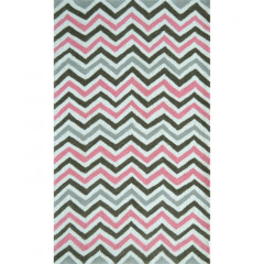 The Rug Market Pink Chevy 71180B White Pink Gray