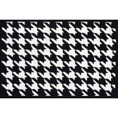 The Rug Market Houndstooth 25530D Black White