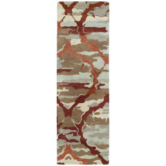 Kaleen Rugs Brushstrokes Collection BRS02-25 Red