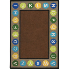 Joy Carpet - Alphabet Spots Kid Essentials - Early Childhood Earthtone