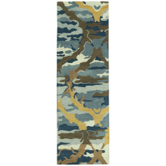 Kaleen Rugs Brushstrokes Collection BRS02-17 Blue