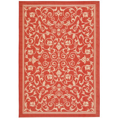Safavieh - Courtyard CY2098 Red-Natural