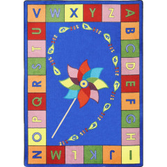 Joy Carpet - Alphabet Pinwheel Kid Essentials - Early Childhood Multi