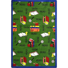 Joy Carpet - Bookworm Kid Essentials - Language & Literacy Green
