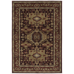 Kaleen Rugs McAlester Collection MCA01-04 Burgundy