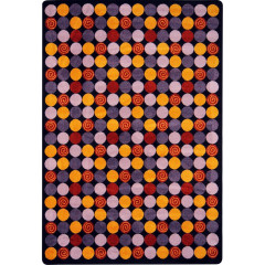 Joy Carpet - Roundabout Kid Essentials - Teen Area Rugs Plum