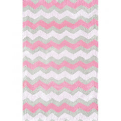 The Rug Market Ziggy Pink 12389B Pink Gray