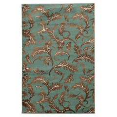 Linon Elegance Collection EE1423 Turquoise & Beige