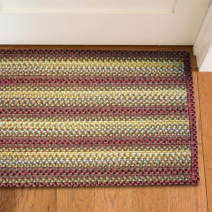 Homespice Rugs-Ultra Durable Braided Slims-Madrid-Red