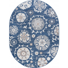 Tayse Rugs Madison Wendy MDN3107 Navy