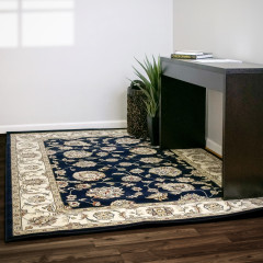 Dynamic Rugs ANCIENT GARDEN AN573653464 Blue/Ivory