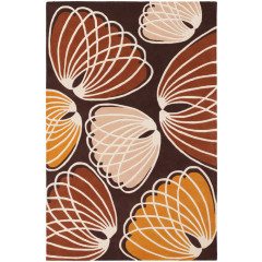 Chandra Inhabit INH-21606 Brown/Orange/White/Peach
