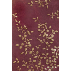 The Rug Market Golden Leaves 44014A Burgundy Gold