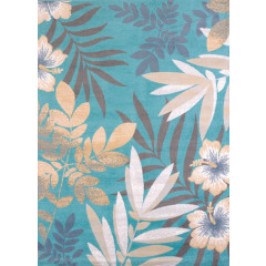 United Weavers Of America - Modern Textures Sea Garden  Blue