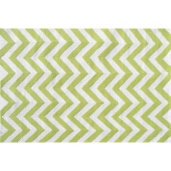 The Rug Market Chevron 25607B Lime White