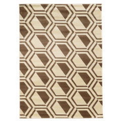 Linon Roma RUGRA0423 Ivory and Beige