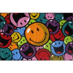 Fun Rugs - Smiley World Sw-15 Multi-Color
