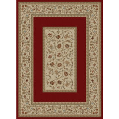 Concord Global - Ankara FLORAL BORDER Red