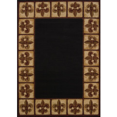 United Weavers Of America - China Garden Patchwork Fleurdelys Black