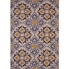 Central Oriental - Sanibel Evesham Cream-Gold
