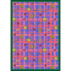 Joy Carpet - My Little Princess Playful Patterns - Children'S Area Rugs Blue