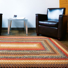 Homespice Rugs-Cotton Braided Rug-Peppercorn-Brown