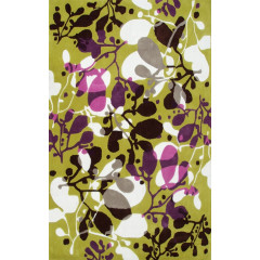 The Rug Market Sprig 72482D Grn Gry Wyt Pur