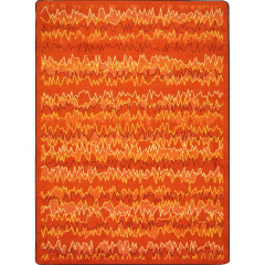 Joy Carpet - Static Electricity Kid Essentials - Teen Area Rugs Orange