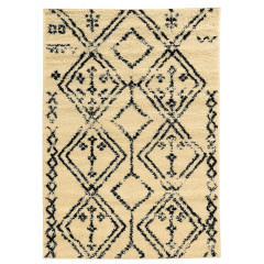 Linon Moroccan RUGMC0635 Ivory and Black