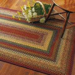 Homespice Rugs-Cotton Braided Rug-Neverland-Red