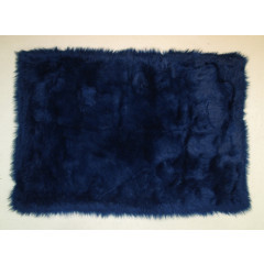 Fun Rugs - Flokati Flk-001 Dark Blue